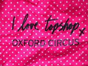 Pinker Einkaufsbeutel mit weissen Punkten von Topshop