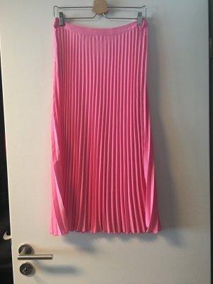 Pinker Faltenrock, H&M, Gr. 38