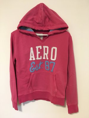 Aeropostale Hooded Sweatshirt raspberry-red