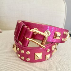 HM Studded Belt multicolored leather