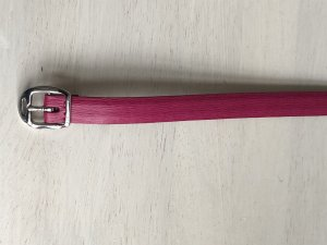 Lauren by Ralph Lauren Leather Belt raspberry-red