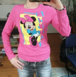 Pinker Minimaus Pullover