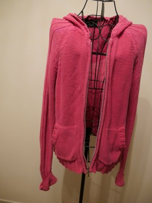 Takko Coarse Knitted Jacket pink-pink cotton