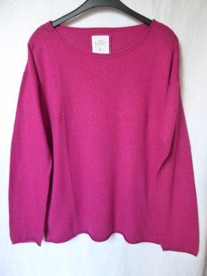 Pinker Pullover (u. a. mit Angora) von L.O.G.G. (H&M)