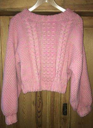 H&M Grof gebreide trui neonroos-roze