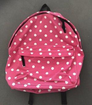 School Backpack neon pink-pink