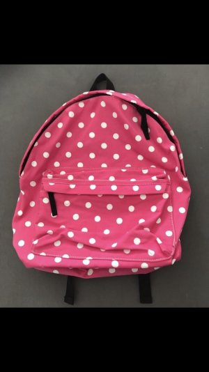 School Backpack white-pink