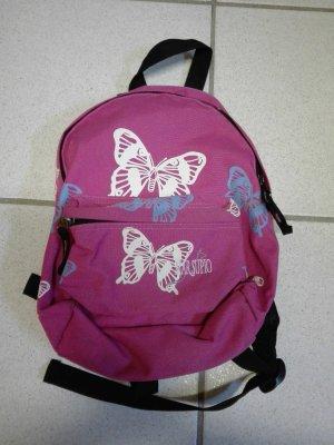 Pinker Rucksack mit Schmetterlingen