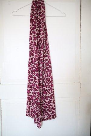 Pinker Schal mit Leo Muster