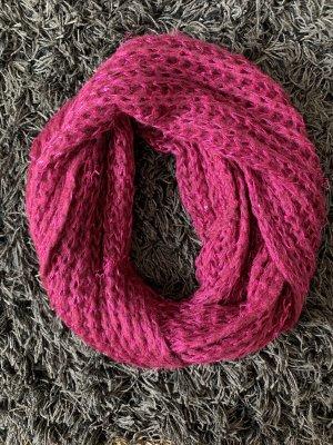 Bufanda tubo rojo frambuesa-violeta