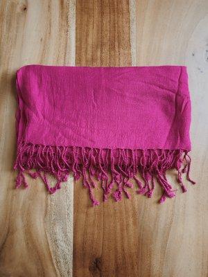 Silk Scarf magenta-pink