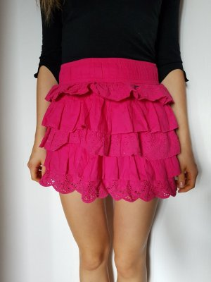Hollister Lace Skirt raspberry-red-magenta