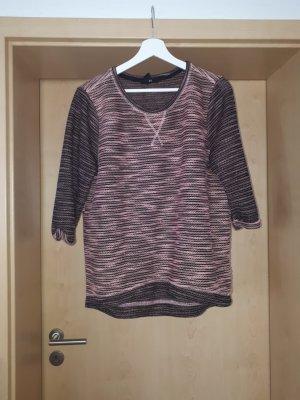 H&M Grof gebreide trui zwart-roze