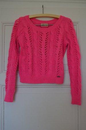 Pinker Winterpulli von Hollister