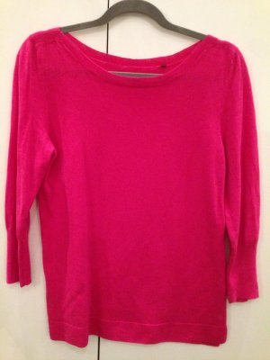 Pinkes 3/4 Shirt aus Merinowolle