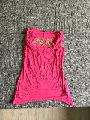 pinkes ärmelloses Shirt 36/38