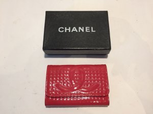 Chanel Étui porte-clés magenta cuir
