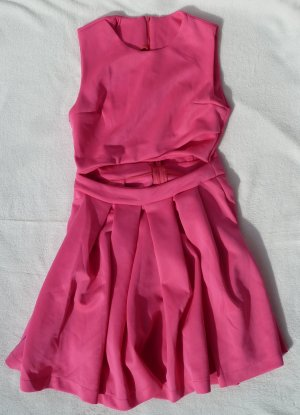 Pinkes Cut Out Kleid Party Sexy Blickfang Cut-Out
