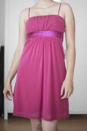pinkes Esprit Kleid mit Pailetten