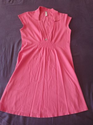 pinkes Fornarina Kleid in Polostyle Gr. L
