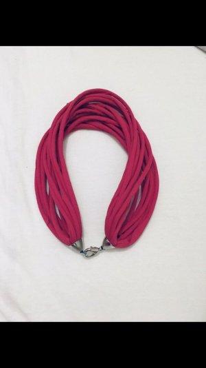 Nastro per capelli rosso lampone-rosa