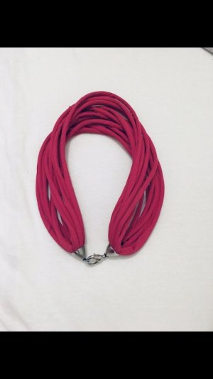 Bandeau cheveux rouge framboise-rose