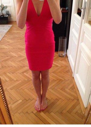 Pinkes Hervé léger Kleid