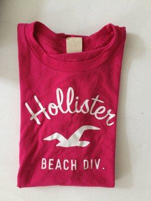 Pinkes Hollistershirt mit Logo