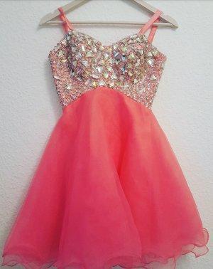 Pinkes Kleid Abschlussball Prinzessin Glitzer