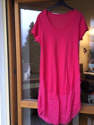 Abito a palloncino rosa-rosso lampone