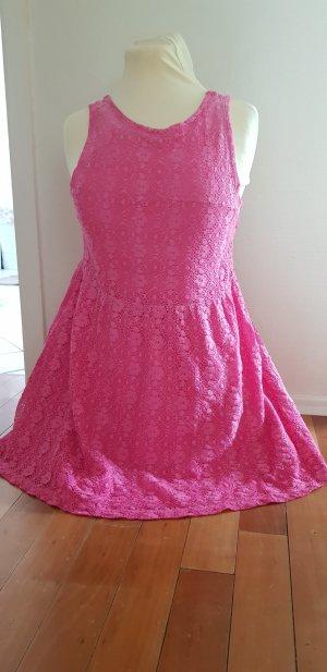 Zara Off the shoulder jurk roze
