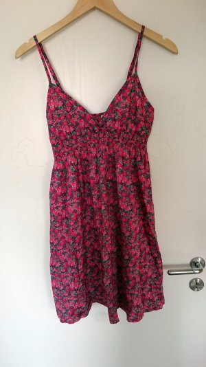Pinkes Kleid mit Blumenmuster von H&M Größe 36