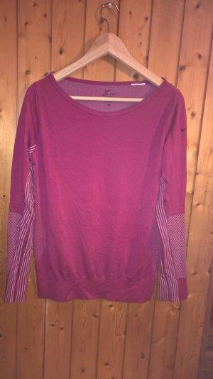 pinkes Langarm Sportshirt