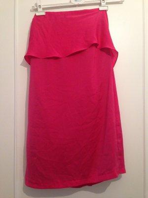 Zara Robe courte magenta polyester