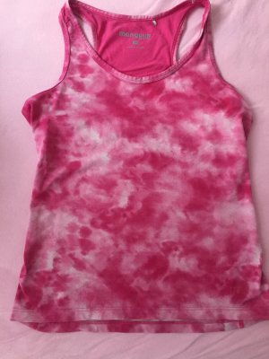 pinkes Mulitfunktions Sporttop im Moonwashed Look