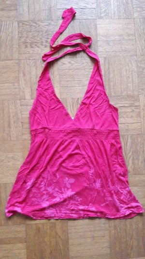 pinkes neckholdertop