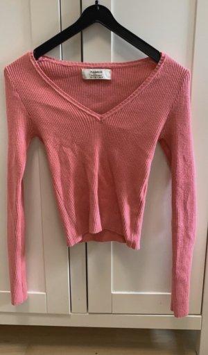 Pull & Bear Lang shirt roze