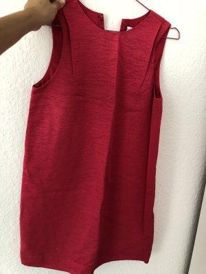 Pinkes otherstories Kleid mit Struktur