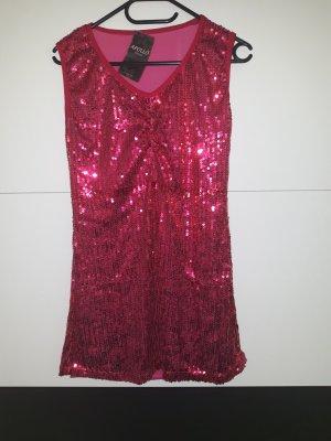 Robe à paillettes rose-rose fluo
