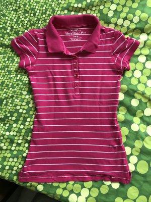 Pinkes Poloshirt h&m logg shirt oberteil xs 34 wie neu oberteil shirt t-shirt