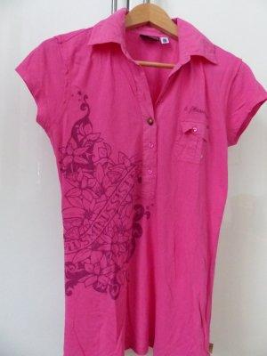 pinkes Poloshirt mit Ornamenten