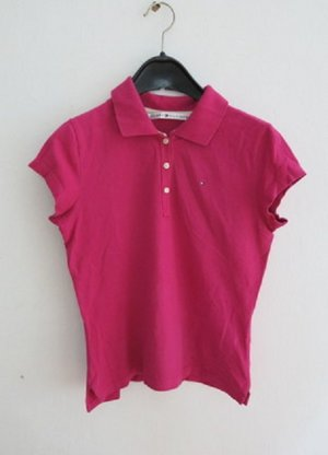 Tommy Hilfiger Polo Shirt magenta cotton
