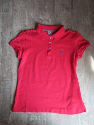 Pinkes Poloshirt von Adidas
