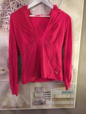 Pinkes Puma Shirt mit tiefem Ausschnitt
