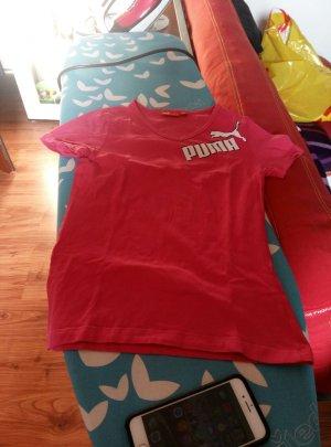 pinkes Puma T-Shirt in Größe XS