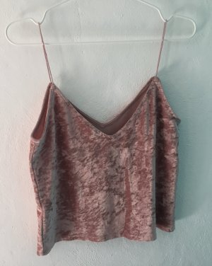 H&M Divided Cropped Top rose-gold-coloured