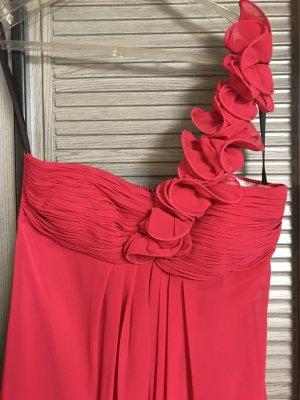 Pinkes Schulterkleid