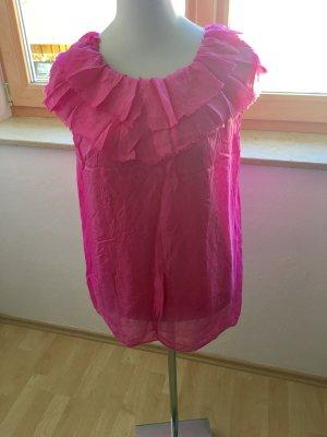 Pinkes Seidentop Made in Italy, allerletzter Preis!