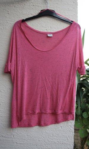 Pinkes Shirt mit Fledermausärmeln, gemustert