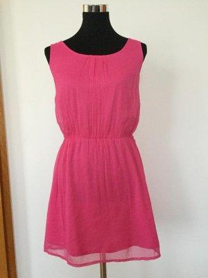Atmosphere Vestido de chifón rosa tejido mezclado